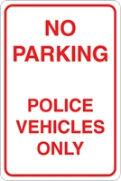 Parking Police vehicles only Logo Vector