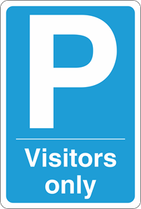 Parking visitors only Logo Vector