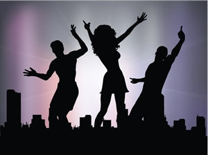 dance party logo vector ai free download