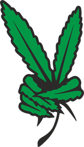 peace marijuana Logo Vector