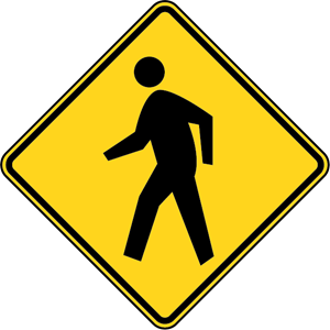 PEDESTRIAN CROSSING ROAD SIGN Logo Vector