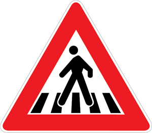 PEDESTRIAN CROSSING SIGN Logo Vector