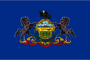 Pennsylvania State Flag Logo Vector