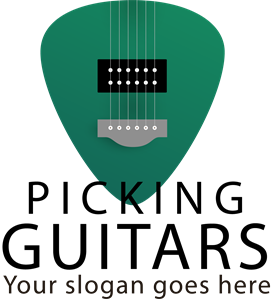 Picking Guitars Logo Vector