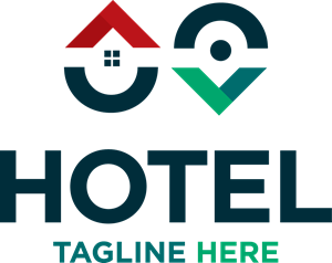 Pin map hotel Logo Vector