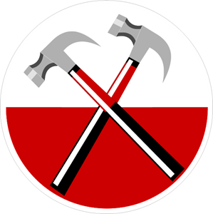 Pink Floyd. Hammers from The Wall Logo Vector
