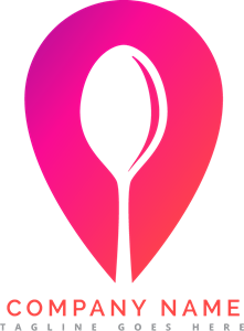 Pink with a spoon Logo Vector