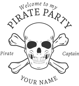 Pirate party Logo Vector