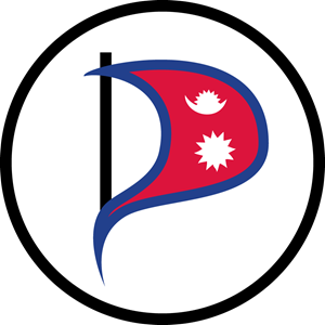 Pirate Party Nepal Logo Vector