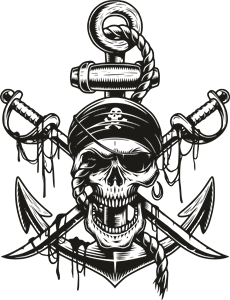 Pirate Skull Logo Vector
