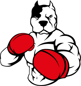 Pitbull Boxing Logo Vector