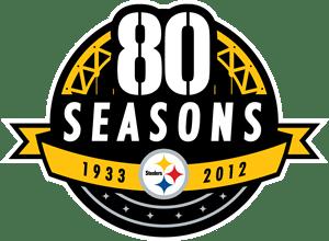 Pittsburgh Steelers 80 Seasons Logo Vector
