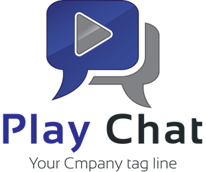 Play chat Logo Vector