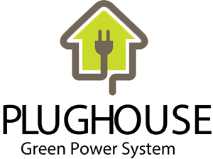 Plug with house Logo Vector