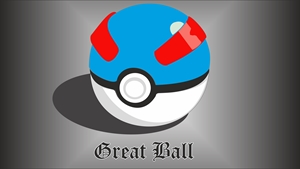 Poke Ball ( Great Ball ) 3D Logo Vector