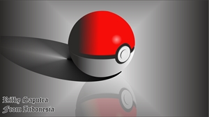 Pokeball 3D Logo Vector