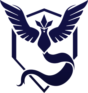 Pokemon GO Team Mystic Logo Vector