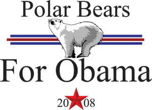 polar bears for obama Logo Vector