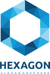 Polygonal hexagon Logo Vector