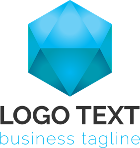 Polygonal shape Logo Vector