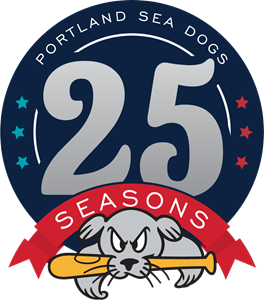 Portland Sea Dogs 25 Seasons Logo Vector