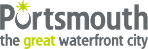 Portsmouth the great waterfront city Logo Vector