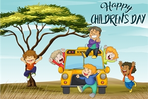 Poster (Childrens day) Logo Vector