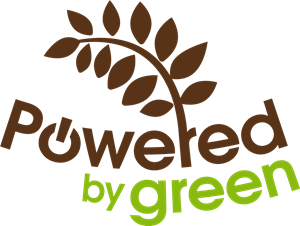 Powered By Green Logo Vector