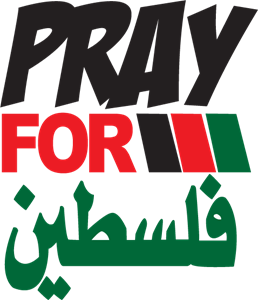 Pray for Palestine Logo Vector