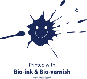 Printed with Bio-ink & Bio-varnish Logo Vector