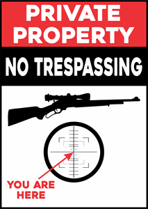 PRIVATE PROPERTY NO TRESPASSING Logo Vector