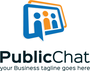 Public Chat Logo Vector