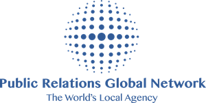 Public Relations Global Network Logo Vector