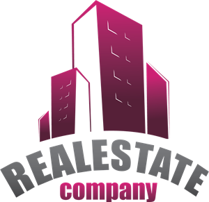 Purple Real Estate Logo Vector