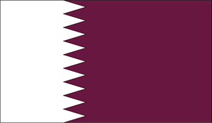 Qatar Flag Logo Vector
