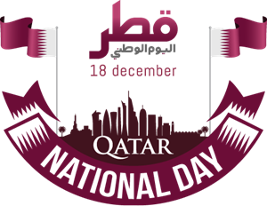 Qatar national day Logo Vector