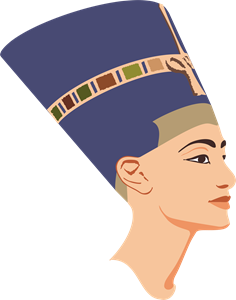 queen Nefertiti Logo Vector