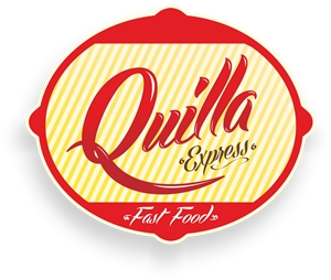 Quilla Express Fast Food Logo Vector