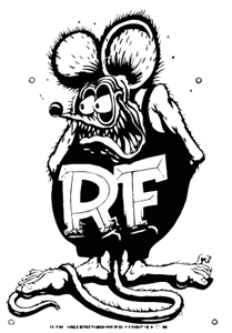 Rat Fink Logo Vector
