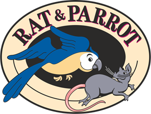 Rat & Parrot Logo Vector