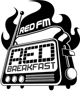 RedFM's Red Breakfast - 1C version Logo Vector