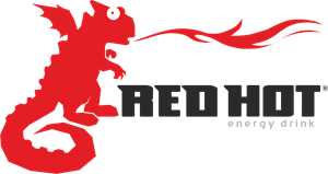 Red Hot Energy Drink Logo Vector