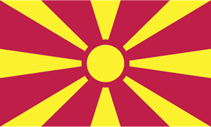 Republic of Macedonia Flag Logo Vector