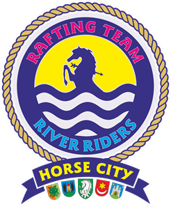 River Riders Horse City Logo Vector