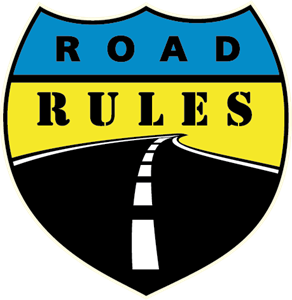 Road Rules Logo Vector