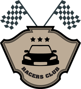 racers club flags Logo Vector
