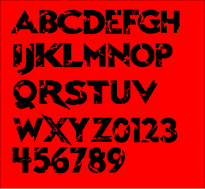 Raptor Alternatively Font's Logo Vector