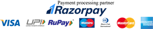 Razorpay with all cards & UPI - Long Logo Vector