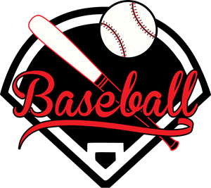Red and black baseball Logo Vector