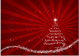 red christmas background Logo Vector